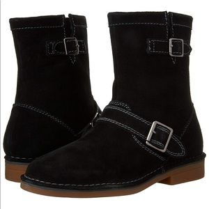 NEW 100% Black Suede Leather Motorcycle Boots NIB!